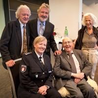 v.l.: Ack van Rooyen, Kristine Kreske (Leitung Hamburger Polizeiorchester),  Jiggs Whigham, Herb Geller, Barbara van Rooyen